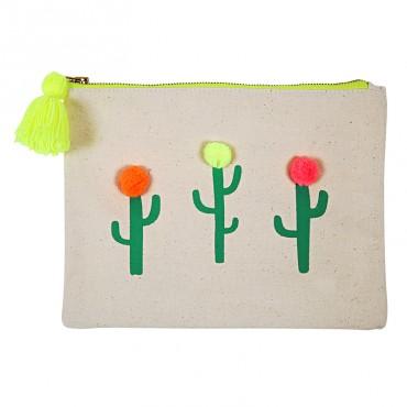 Pochette canvas - Cactus