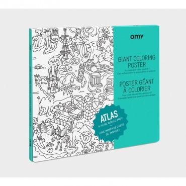 Poster géant à colorier - Atlas