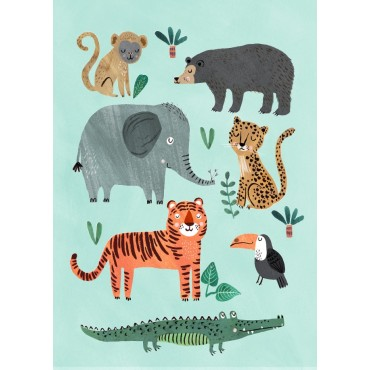 Poster Wild Animals - Tigre