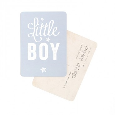 Carte Little Boy (Star) - Gris bleu
