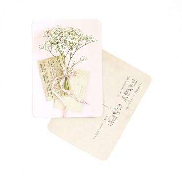Carte Brindilles - Rose