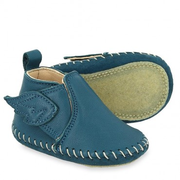 Chaussons Bomok - Bleu canard