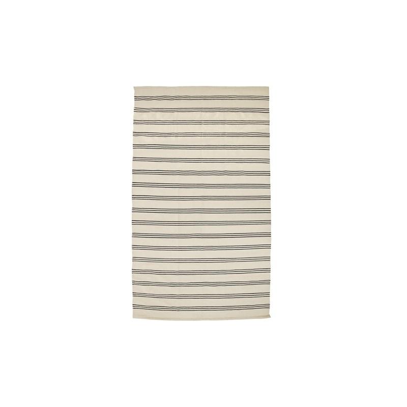 Tapis rayé - Noir & blanc (240x140 cm) - BLOOMINGVILLE - Perlin Paon ...