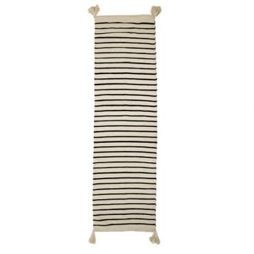 Tapis rayé - Noir & blanc (240x70 cm)