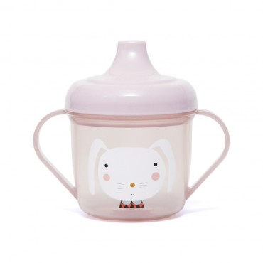 Tasse d'apprentissage - Lapin rose
