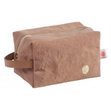 Trousse de toilette cube Iona - Litchi