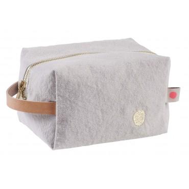 Trousse de toilette cube Iona - Fleur de sel