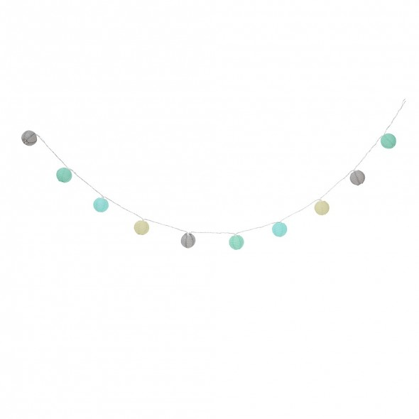 Guirlande lumineuse - Boules Multicolores Mint