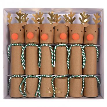 Lot de 6 crackers - Renne
