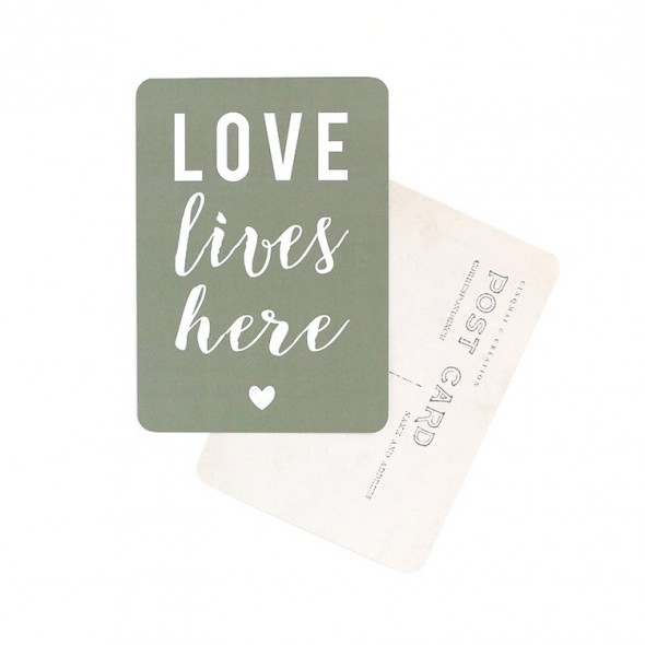 Carte Love lives here - Kaki
