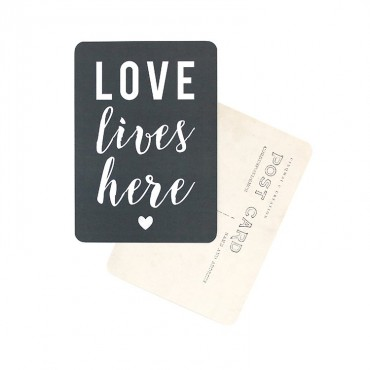 Carte Love lives here - Ardoise