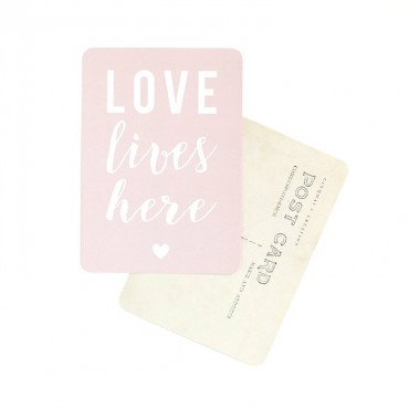 Carte Love lives here - Rose