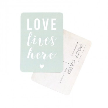 Carte Love lives here - Smoke green