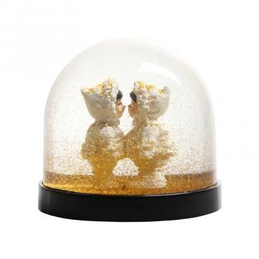 Boule à neige - Esquimaux doré