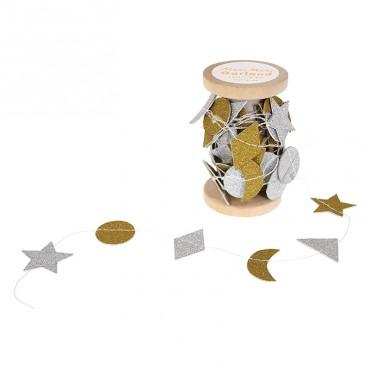Bobine de guirlande - Or et argent