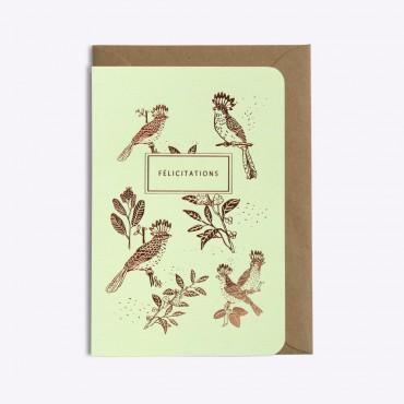 Carte Slow Life - Vert pistache