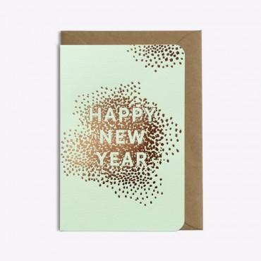 Carte Happy New Year  - Vert pistache