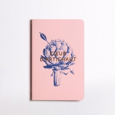 Carnet cousu Cœur d'Artichaud - Rose