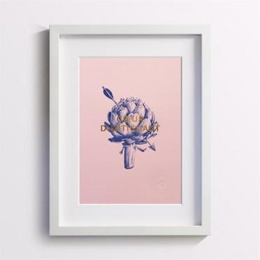 Affiche Coeur d'Artichaud - Rose