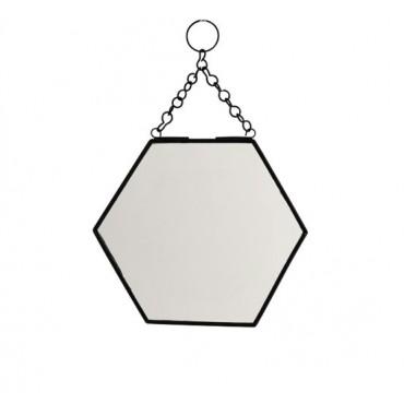 Miroir à suspendre Hexagonal - Noir (PM)