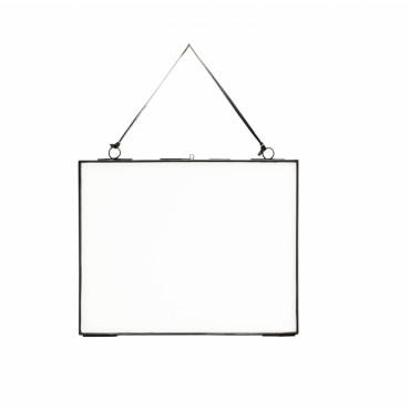 Cadre photo en verre - Noir (grand modèle)