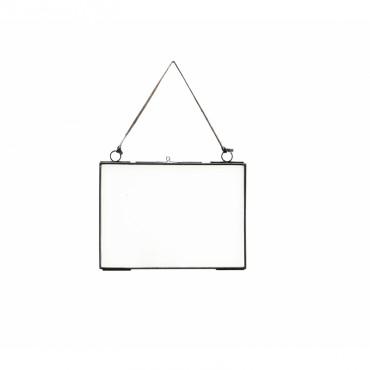 Cadre photo en verre - Noir (petit modèle)