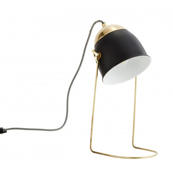 Lampe de table - Laiton / noir
