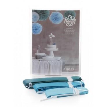 Petit Pom - Bleu (set de 3)