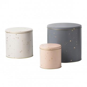 Set de 3 boites métal - Confettis