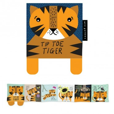 Livre en coton - Tip Toe Tiger