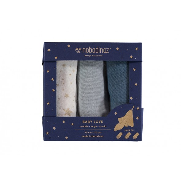 Pack de 3 langes - Night blue