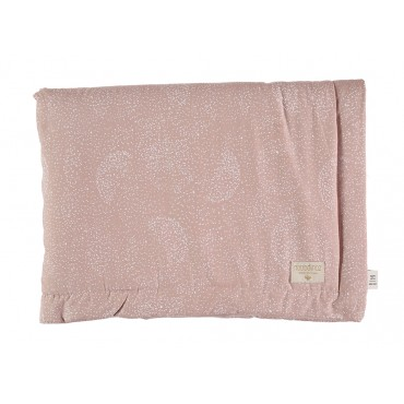 Petite couverture Laponia - White bubble / Misty pink