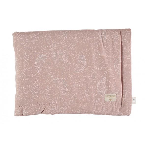 Petite couverture Laponia - White bubble / Misty pink