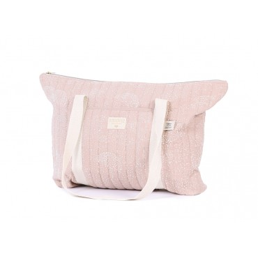 Sac de maternité Paris - White bubble / Misty pink