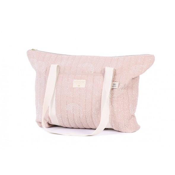 Sac de maternité Paris - White bubble / Misty pink