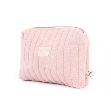Trousse de toilette Travel - White bubble / Misty pink