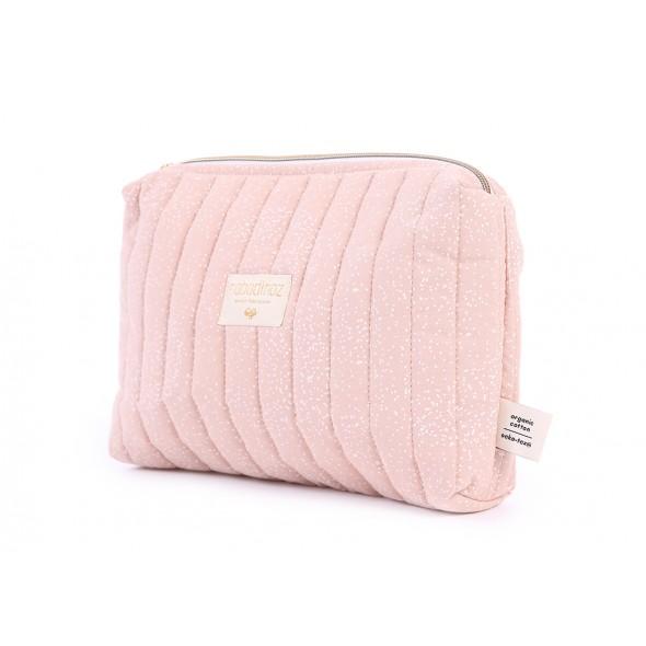 Trousse de toilette Travel - White bubble / Misty pink
