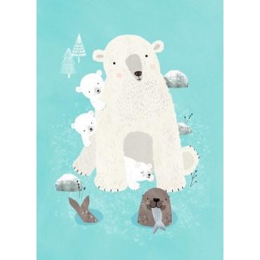 Carte postale - Nanook & cubs