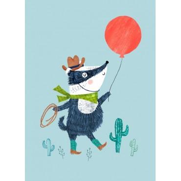 Carte postale - Badger