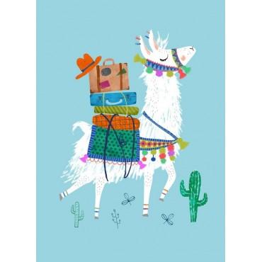 Carte postale - Travelling Lama