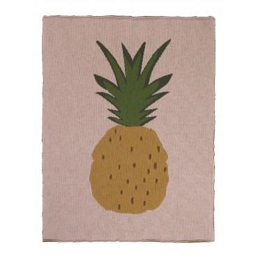 Couverture en coton - Ananas