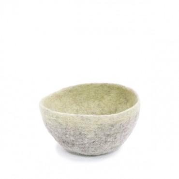 Bol feutre bicolore / pierre clair - tilleul (M)