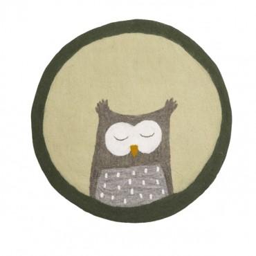 Tapis feutre Pasu - Owly / Tilleul
