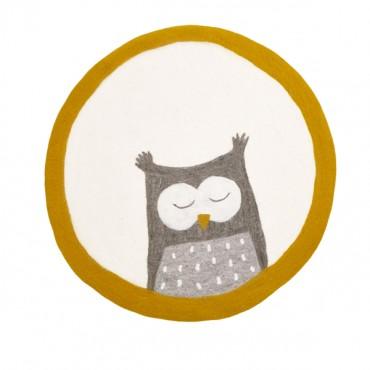 Tapis feutre Pasu - Owly / Naturel