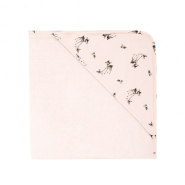 Cape de bain Colette - Rose clair / Faon