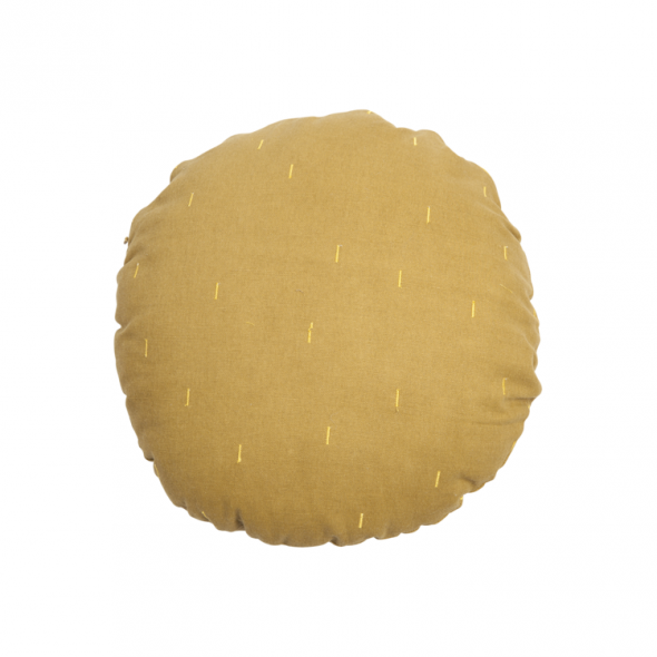 Coussin rond - Jaune