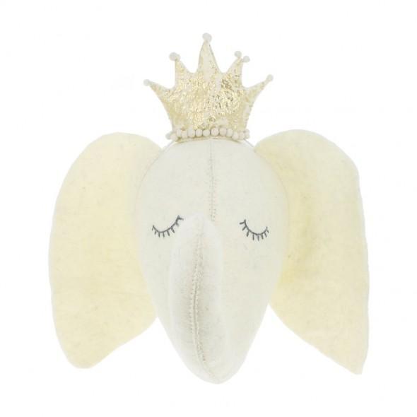 Trophée - Sleepy Eléphant avec couronne