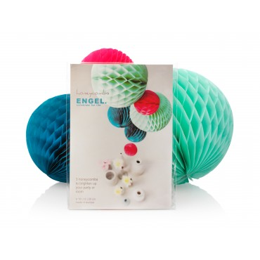 Boules Honeycomb - Océan (set de 3)