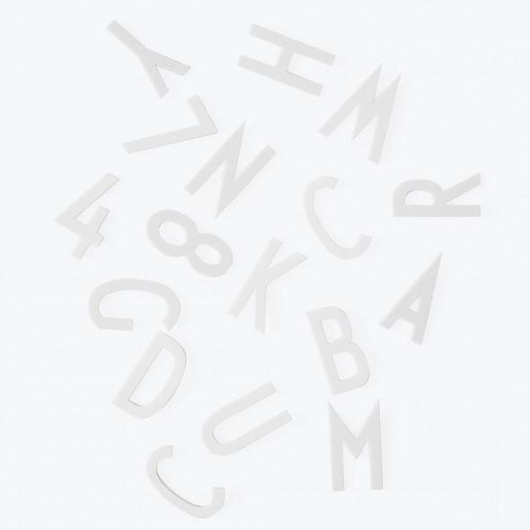 Set de grandes lettres pour pegboard - Blanc