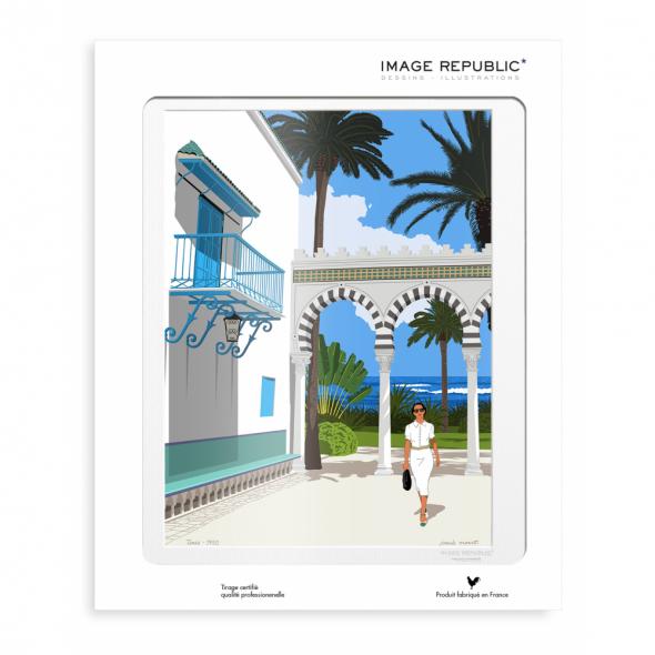 Affiche Paolo Mariotti - Tunis
